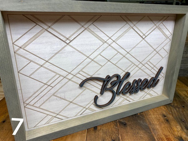 Blessed home decor sign