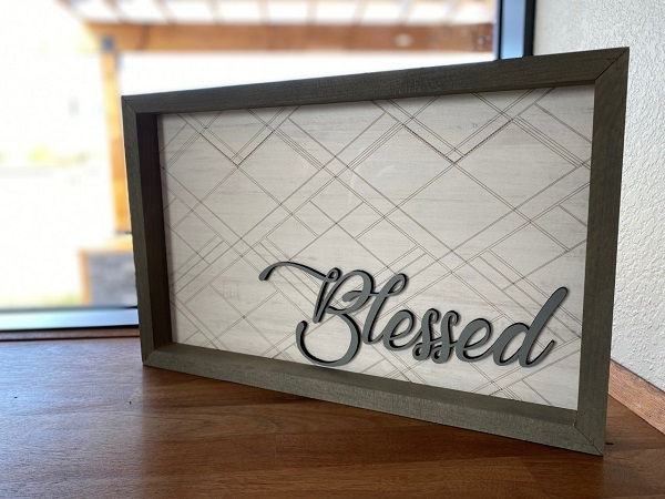 home decor blessed sign